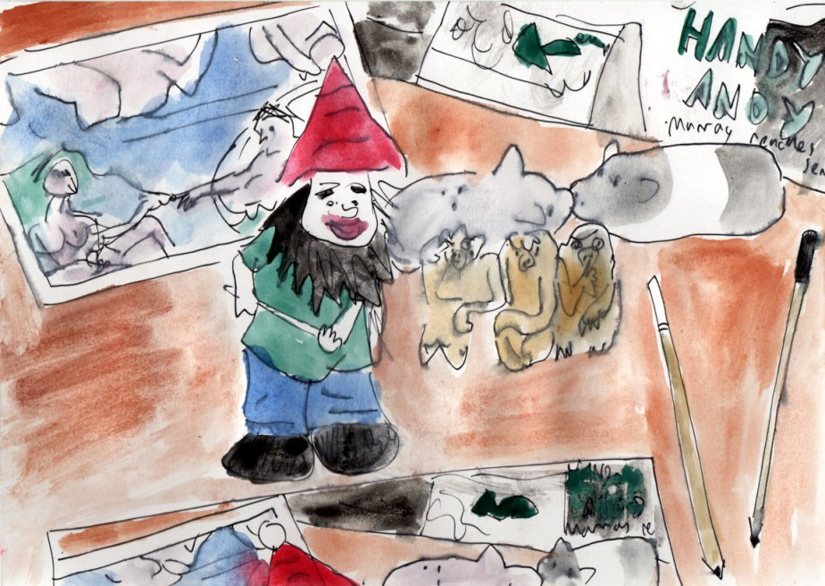 Still life with gnome