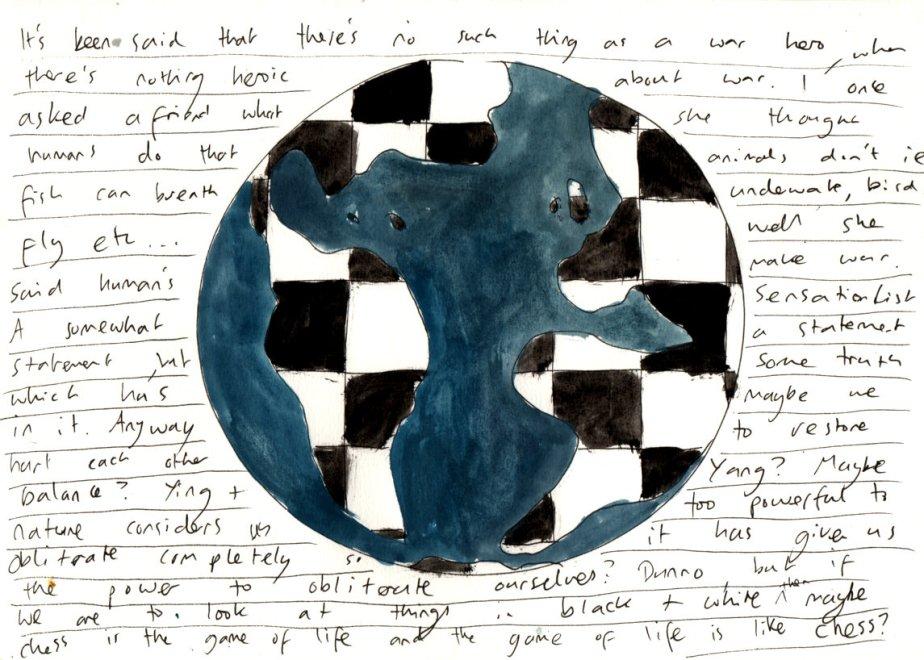 War - Pen and gouache on paper - 2015