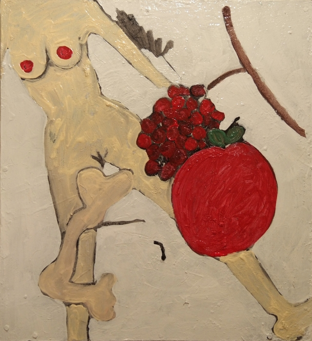 woman, bone and fruit