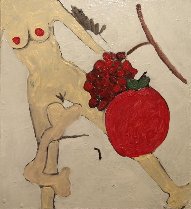 woman, bone and fruit